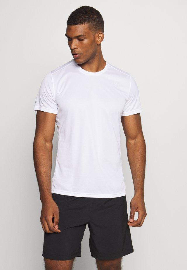 RESPONSE AEROREADY RUNNING SHORT SLEEVE TEE - Camiseta estampada - white