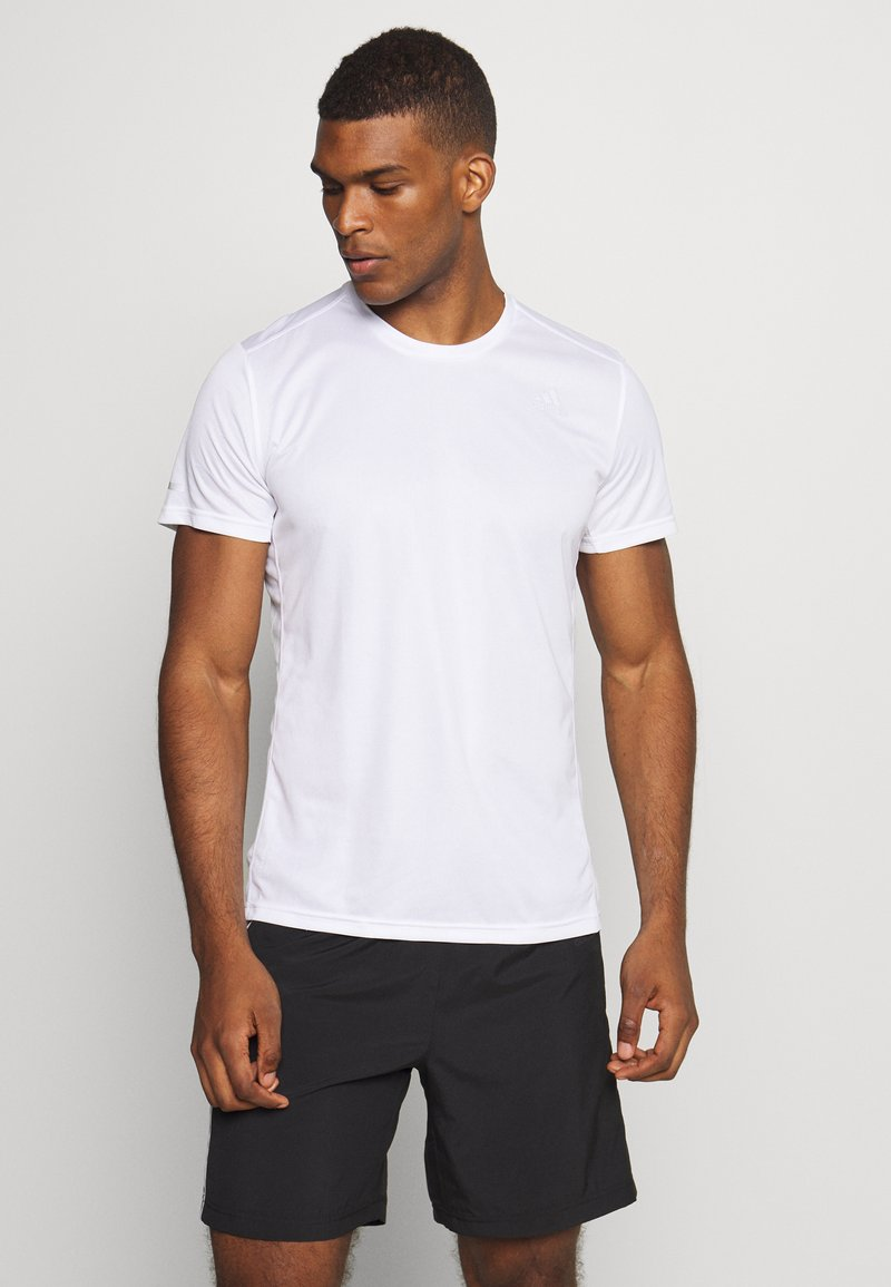 adidas Performance - RESPONSE AEROREADY RUNNING SHORT SLEEVE TEE - Triko s potiskem - white