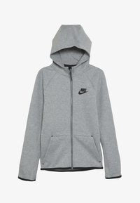 Nike Sportswear - TECH FLEECE ESSENTIALS - Zip-up hoodie - dark grey heather/black - 3
