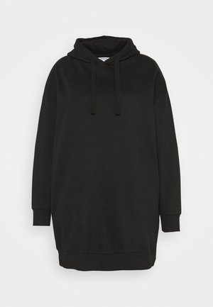 HOODED DRESS - Day dress - black