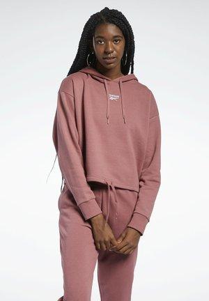 CLASSIC SMALL LOGO FOUNDATION CASUAL HOODIE - Bluza z kapturem - red