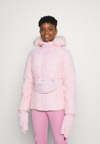 Missguided - SKI JACKET WITH MITTENS AND BUMBAG  - Winter jacket - pink - 0