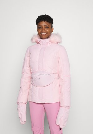 SKI JACKET WITH MITTENS AND BUMBAG  - Chaqueta de invierno - pink