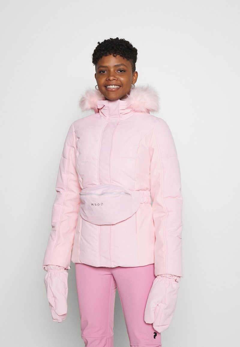 Missguided - SKI JACKET WITH MITTENS AND BUMBAG  - Winter jacket - pink