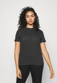 Lauren Ralph Lauren Woman - ALLI SHORT SLEEVE - T-shirt con stampa - black/white - 0