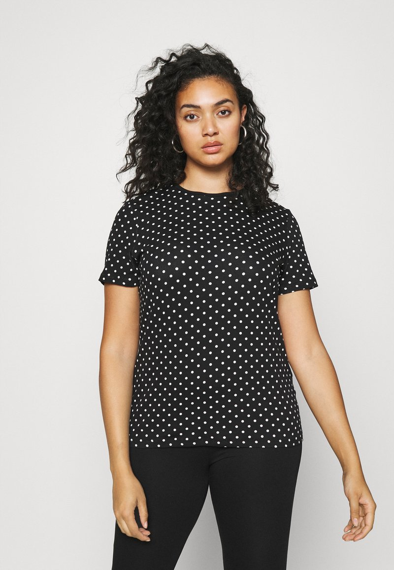 Lauren Ralph Lauren Woman - ALLI SHORT SLEEVE - T-shirt con stampa - black/white