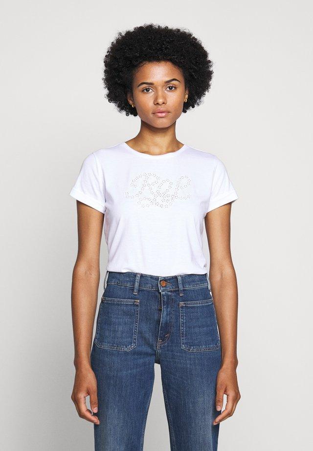 UPTOWN - T-shirt con stampa - white