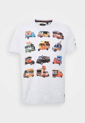 FOODX - Print T-shirt - ecru marl