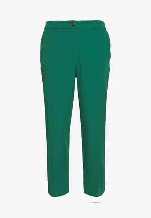 ELASTIC BACK BUTTONED ANKLE GRAZER TROUSER - Stoffhose - emerald
