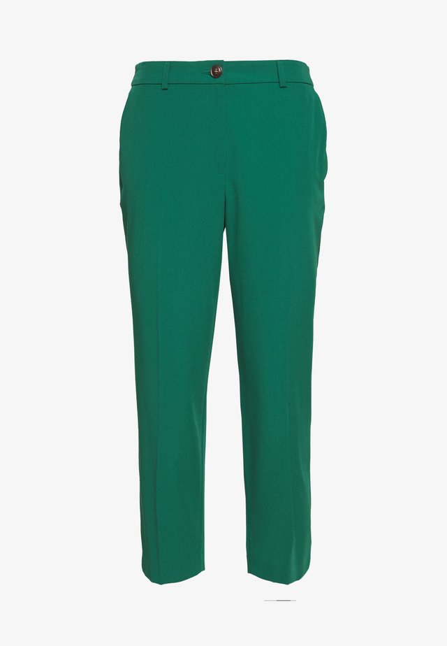 ELASTIC BACK BUTTONED ANKLE GRAZER TROUSER - Pantalon classique - emerald