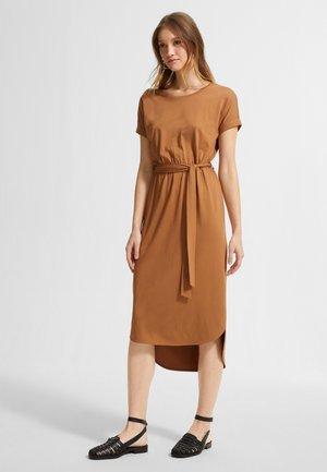 Jersey dress - caramel