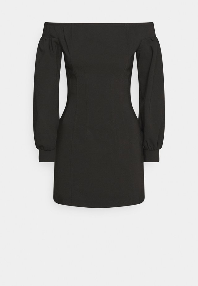 OFF THE SHOULDER MINI DRESS - Kjole - black