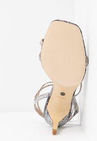 Dune London - MIGHTEYS - Sandály na vysokém podpatku - silver - 6