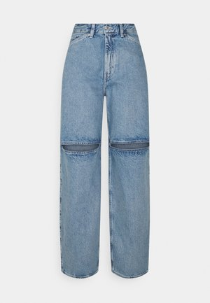 BRAE TROUSERS - Relaxed fit jeans - pen blue