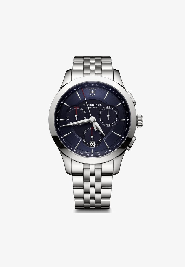 ALLIANCE  - Chronograph watch - blue silver