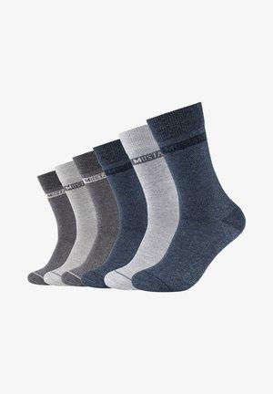 6 PACK - Socks - denim melange