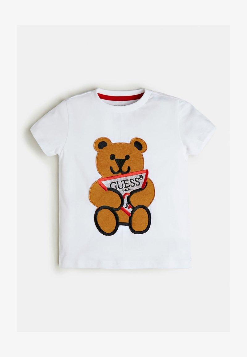 Guess - T-shirt print - blanc