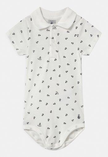 Polo shirt - marshmallow/smoking