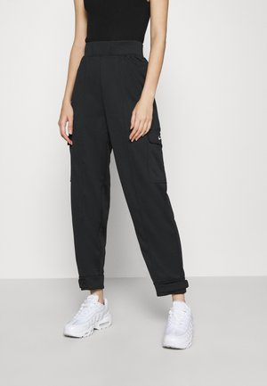 PANT - Trousers - black/white