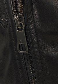 Neil Barrett - HYBRID BIKER - Kožená bunda - black - 2