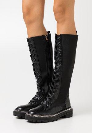 KERRIE - Platåstøvler - black