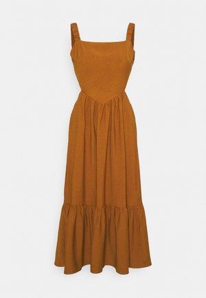 FLOUNCE DRESS - Day dress - terracotta
