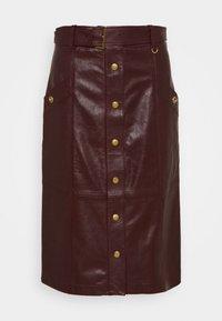 Coach - SNAP FRONT  - Pencil skirt - espreso - 0