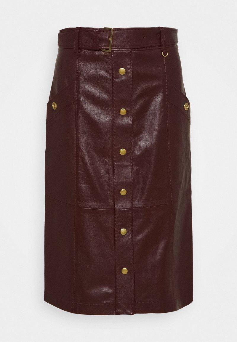 Coach - SNAP FRONT  - Pencil skirt - espreso