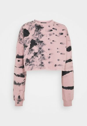 TIE DYE CROPPED  - Sweatshirt - pink