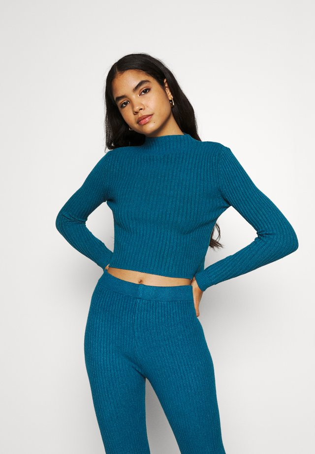 LOUNGE JUMPER - Sweter - dark teal blue