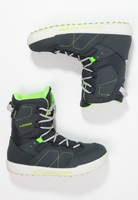 Lowa - RAIK GTX UNISEX - Winter boots - navy/limone - 1