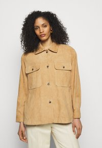 Alberta Ferretti - Kožená bunda - beige - 0