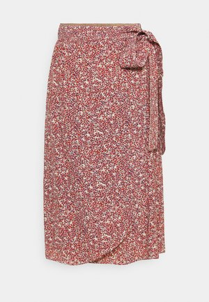 FLORAL MOSS - Wrap skirt - nude