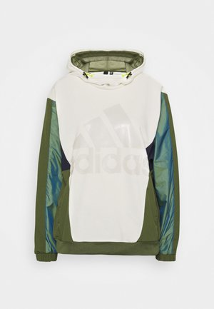 Hoodie - white/khaki