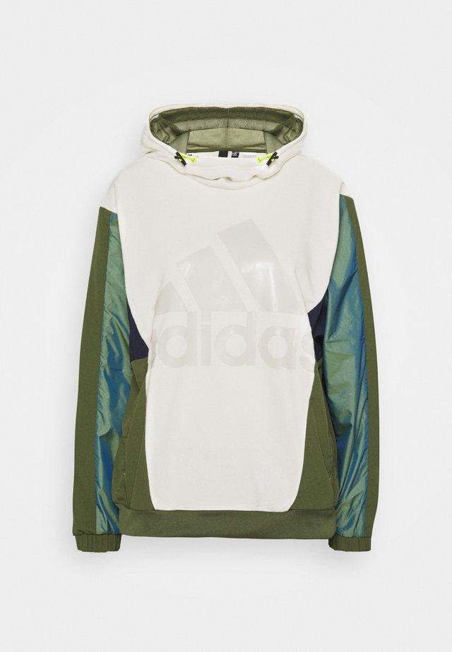 Sweat à capuche - white/khaki