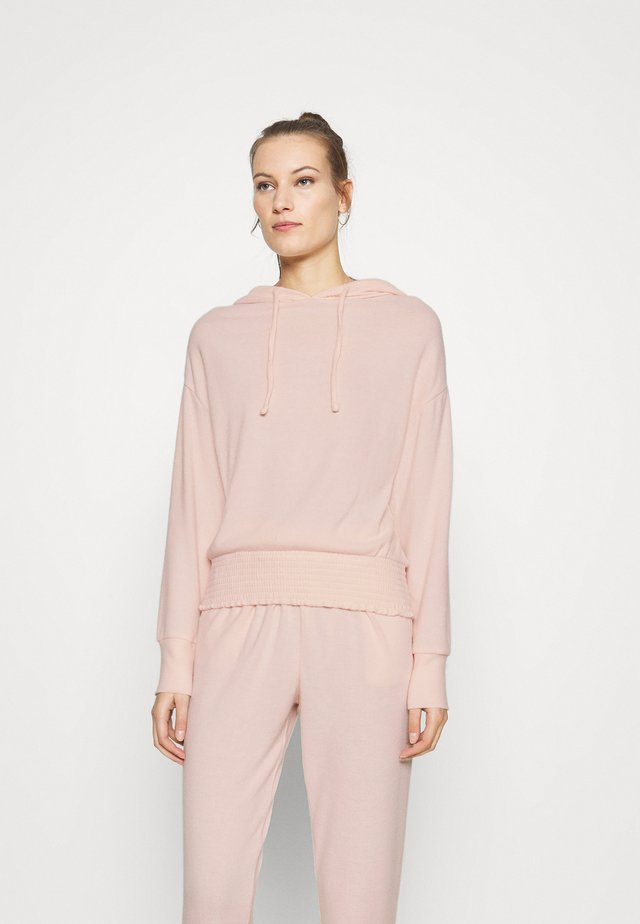 BRUSHED HOODY - Jumper - blush