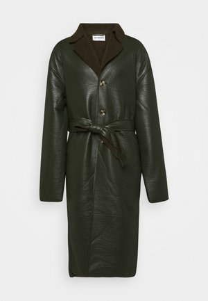 BOXY COAT - Classic coat - green sherling
