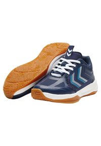 Hummel - REACH LX JR UNISEX - Handball shoes - peacoat - 2