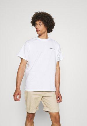 SCRIPT EMBROIDERY - T-shirt basique - white/black