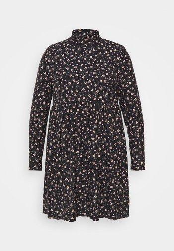 SOFT TOUCH HIGHNECK SMOCK DRESS - Denní šaty - black