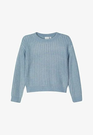 Strikpullover /Striktrøjer - dusty blue