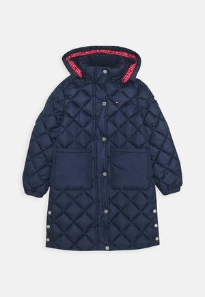 QUILTED COAT - Winter coat - blue
