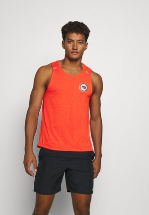 MILER TANK - Sports shirt - team orange/gelati/reflective silver