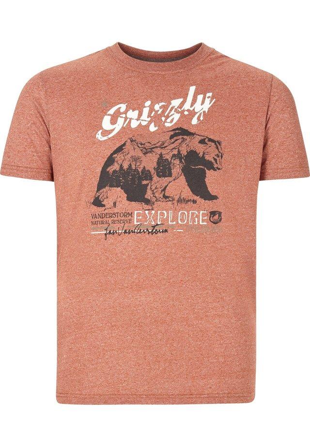 TAIT - Print T-shirt - orange melange