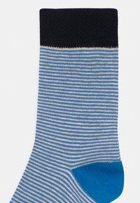 TOM TAILOR - THIN STRIPES BASIC 6 PACK - Socks - beige melange/sea blue - 2