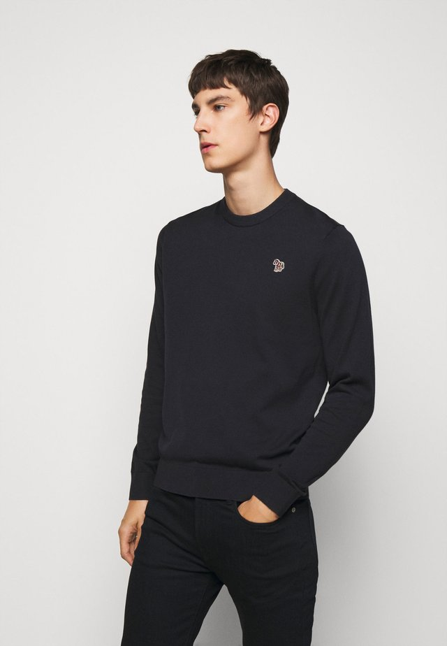 MENS CREW NECK ZEBRA - Strikkegenser - dark blue