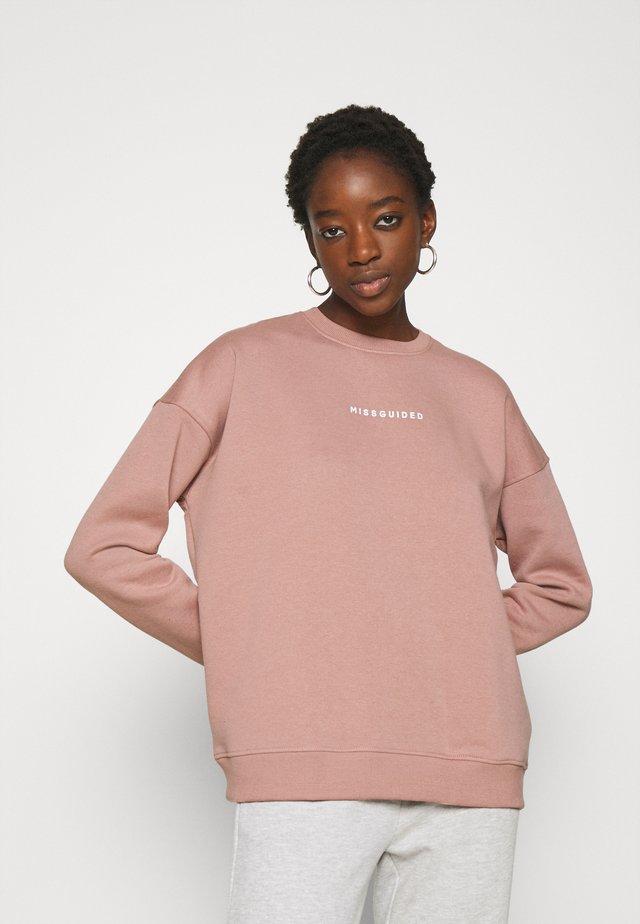 BASIC OVERSIZED - Sweatshirt - rose