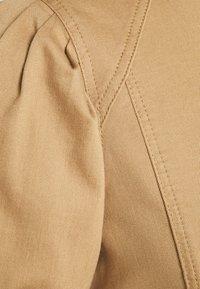 NU-IN - PUFF SLEEVE MINI DRESS - Denim dress - camel - 2