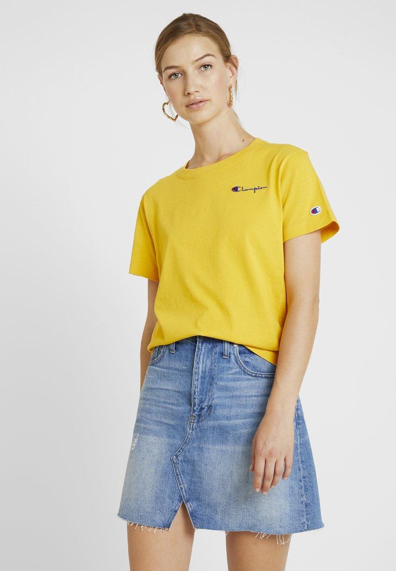 Champion Reverse Weave - SMAL SCRIPT CREWNECK  - Print T-shirt - old