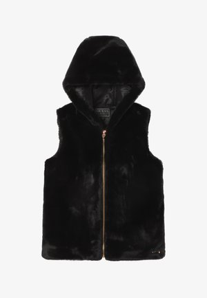 JUNIOR ECO HOODED  - Chaleco - jet black